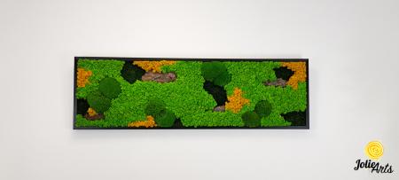 Tablou licheni, muschi si plante naturale stabilizate. Model Scoarta cu galben, Jolie Arts, www.tablouriculicheni.ro-2 [2]