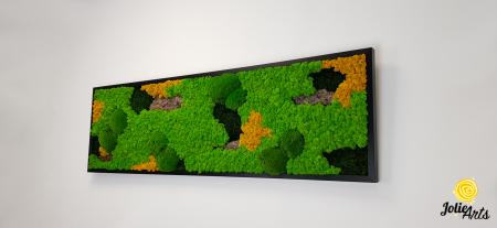 Tablou licheni, muschi si plante naturale stabilizate. Model Scoarta cu galben, Jolie Arts, www.tablouriculicheni.ro-2 [1]