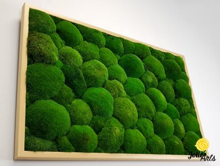 Tablou muschi bombati naturali stabilizati, dimensiune 60 x 100 cm, rama culoare natur, Jolie Arts, www.tablouriculicheni.ro-3 [4]
