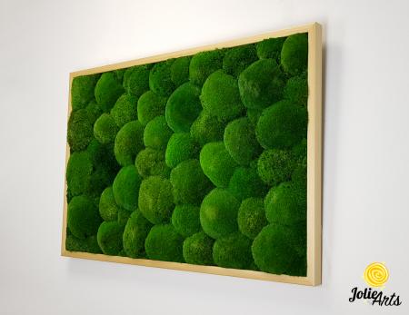 Tablou muschi bombati naturali stabilizati, dimensiune 60 x 100 cm, rama culoare natur, Jolie Arts, www.tablouriculicheni.ro-3 [1]