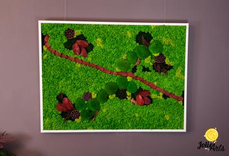 Tablou licheini, muschi si plante naturale stabilizate Jolie Arts [2]