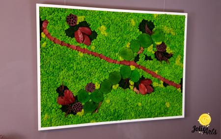 Tablou licheini, muschi si plante naturale stabilizate Jolie Arts [4]