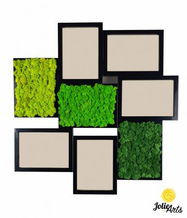 Rama foto decorata cu licheni naturali stabilizati Jolie Arts [0]