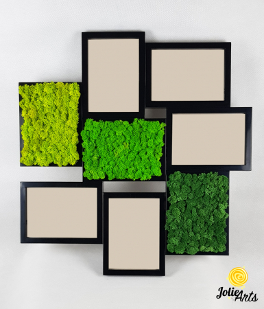 Rama foto decorata cu licheni naturali stabilizati Jolie Arts [5]