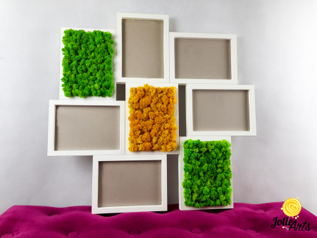 Rama fotografii decorata cu licheni naturali stabilizati, Jolie Arts [2]