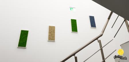 Set 4 tablouri cu licheni naturali stabilizati, dimensiune 30 x 70 cm [2]
