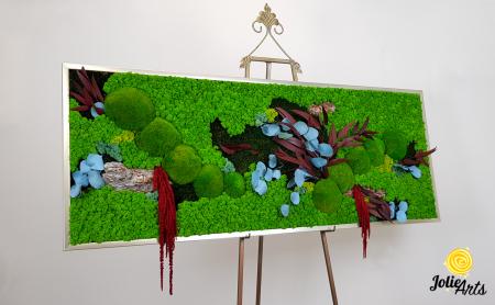 Tablou cu licheni, muschi si plante naturale stabilizate, model personalizat [4]
