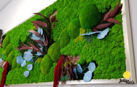 Tablou cu licheni, muschi si plante naturale stabilizate, model personalizat [5]