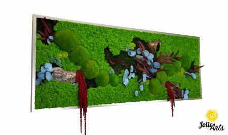 Tablou cu licheni, muschi si plante naturale stabilizate, model personalizat [0]