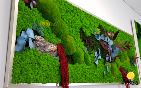 Tablou cu licheni, muschi si plante naturale stabilizate, model personalizat [6]