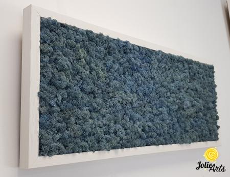 Tablou cu licheni naturali stabilizati, culoare Blue Lavender [1]