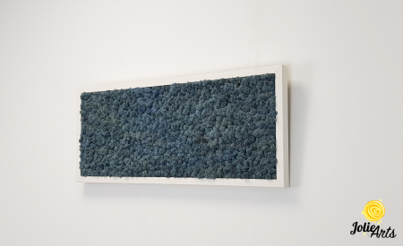 Tablou cu licheni naturali stabilizati, culoare Blue Lavender [3]