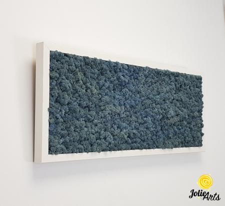 Tablou cu licheni naturali stabilizati, culoare Blue Lavender [6]