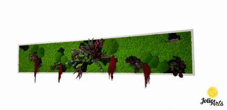 Tablou licheni, muschi si plante naturale stabilizate, Jolie Arts, Model Amaranthus Rosu [0]