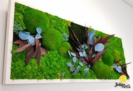Tablou licheni, muschi si plante naturale stabilizate Jolie Arts, model Ilona [3]