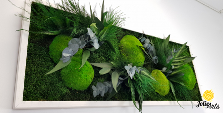 Tablou licheni, muschi si plante naturale stabilizate, model Green Day, Jolie Arts [4]