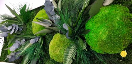 Tablou licheni, muschi si plante naturale stabilizate, model Green Day, Jolie Arts [6]
