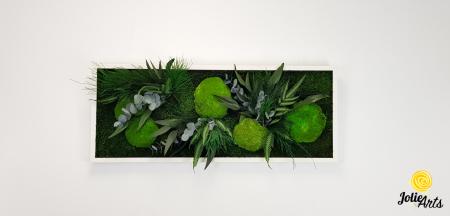Tablou licheni, muschi si plante naturale stabilizate, model Green Day, Jolie Arts [2]