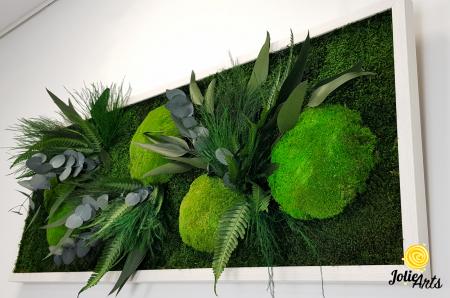 Tablou licheni, muschi si plante naturale stabilizate, model Green Day, Jolie Arts [5]