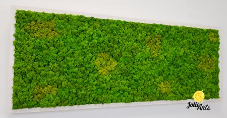 Tablou licheni naturali stabilizati, culoare Grass Green Light cu insertii de Spring [4]
