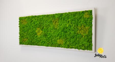 Tablou licheni naturali stabilizati, culoare Grass Green Light cu insertii de Spring [1]