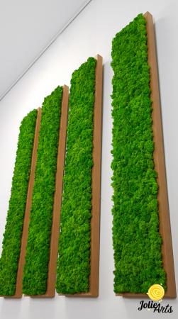 Set 4 tablouri decorate cu licheni naturali stabilizati, 25 x 100 cm [2]
