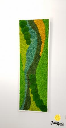 Tablou licheni si muschi bombati Jolie Arts, model Pacific [6]