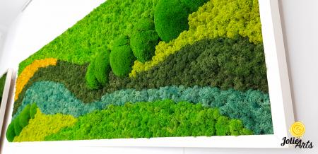 Tablou licheni si muschi bombati Jolie Arts, model Pacific [5]
