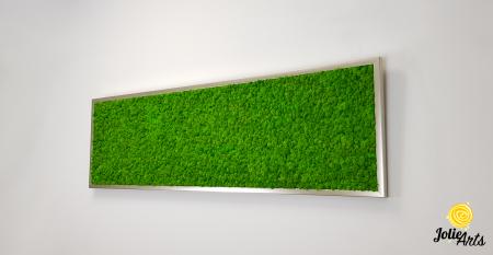 Tablou licheni naturali stabilizati, culoare verde deschis, 40 x 130 cm, Jolie Arts, www.tablouriculicheni.ro-2 [1]