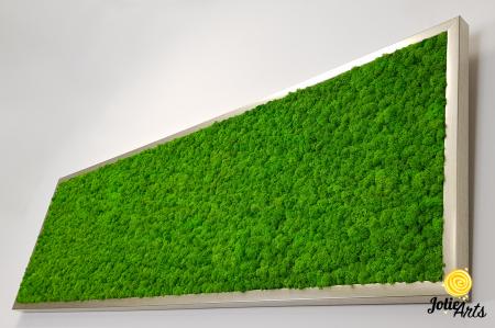 Tablou licheni naturali stabilizati, culoare verde deschis, 40 x 130 cm, Jolie Arts, www.tablouriculicheni.ro-2 [5]