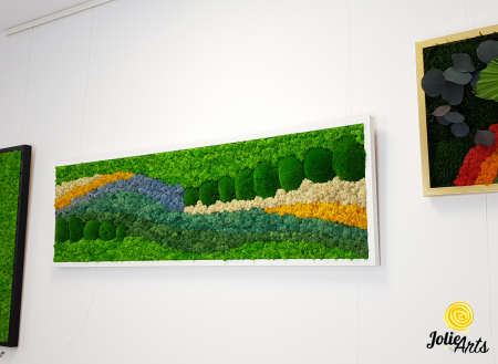 Tablou licheni, tablou muschi de padure, plante stabilizate, Jolie Arts, Model White Pacific [5]