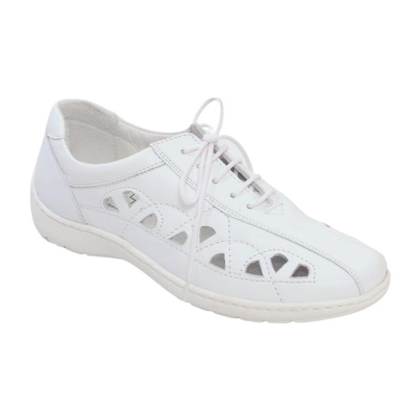 Pantofi din piele Medline Confort 441 Alb 0