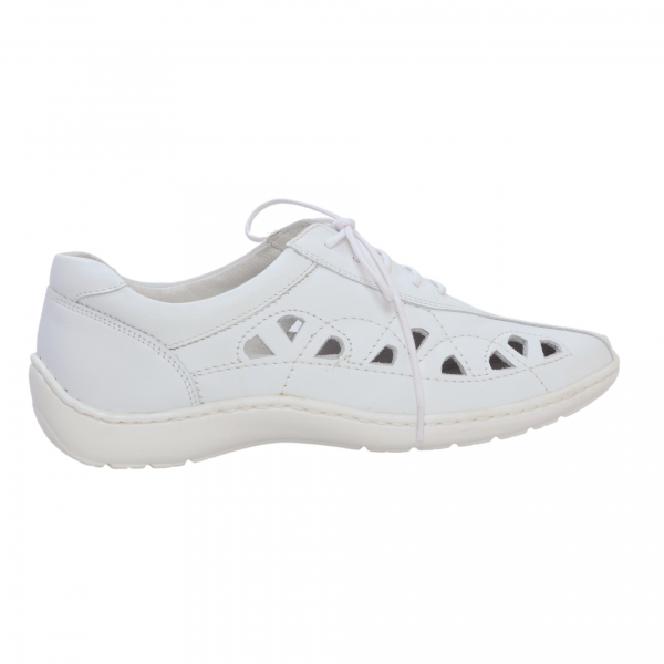 Pantofi din piele Medline Confort 441 Alb 1