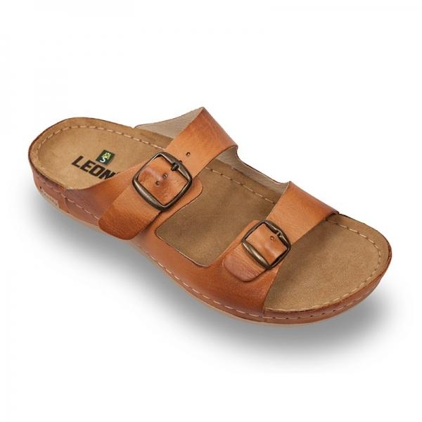 Papuci confortabili barbati Leon 703 maro 0