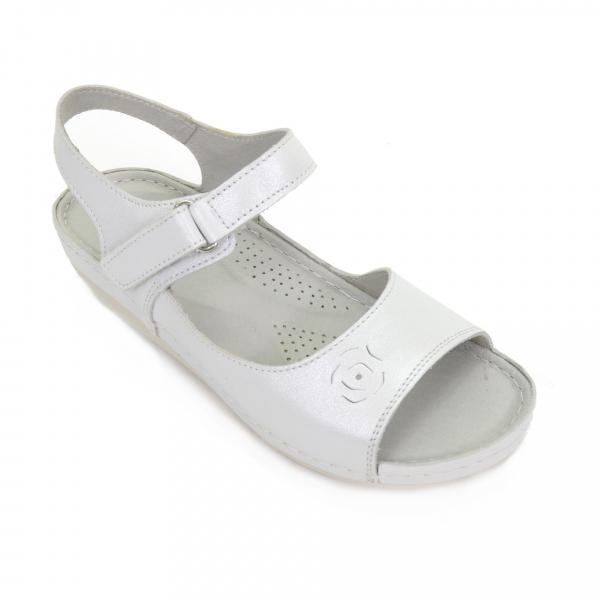Sandale din piele naturala 257 Alb 0