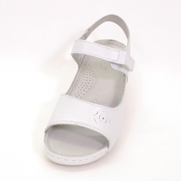 Sandale din piele naturala 257 Alb 2