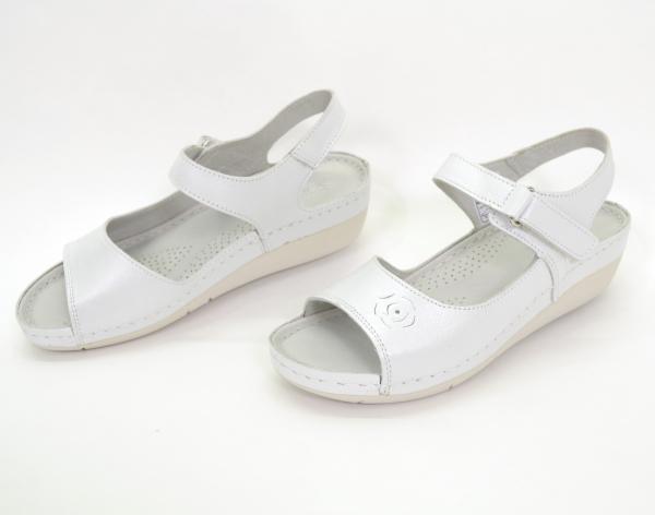Sandale din piele naturala 257 Alb 3