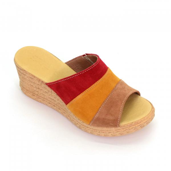 Papuci din piele naturala 304 Color 0