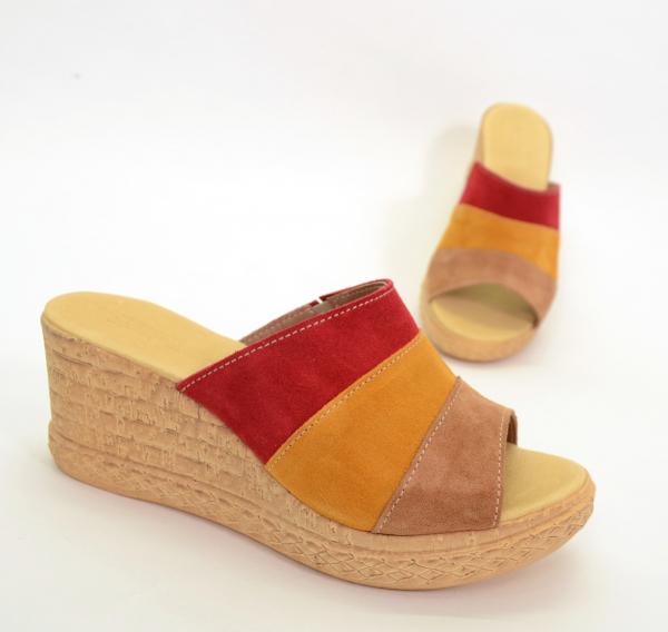Papuci din piele naturala 304 Color 1