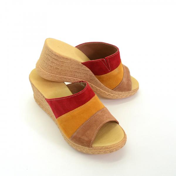 Papuci din piele naturala 304 Color 2