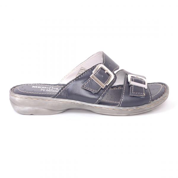 Papuci din piele naturala Medline, 403 Bleumarin 1