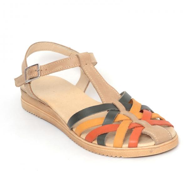 Sandale din piele naturala 258 Color Vara 1