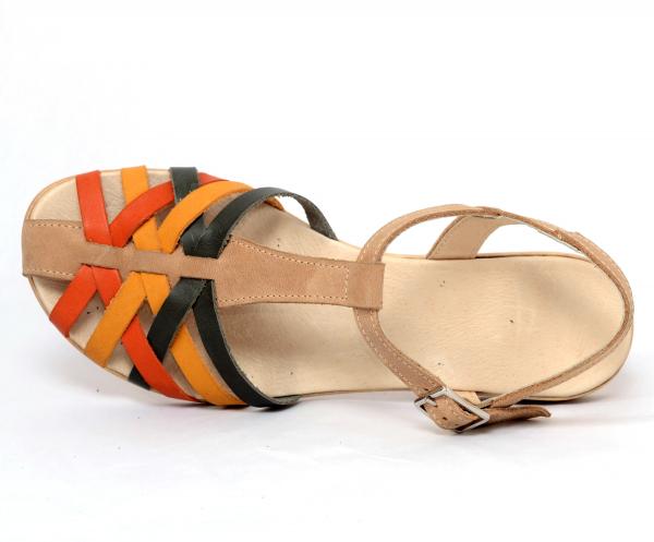 Sandale din piele naturala 258 Color Vara 4