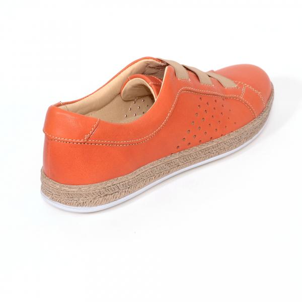 Pantofi casual dama 546 Portocaliu 1