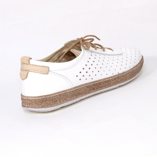 Pantofi casual dama 459 Alb 1