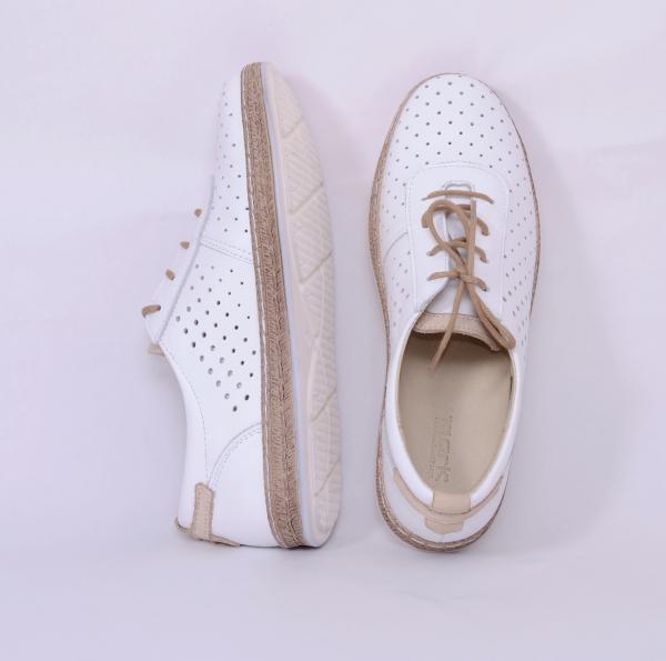 Pantofi casual dama 459 Alb 2