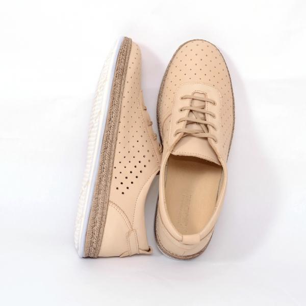 Pantofi casual dama 459 Bej 2