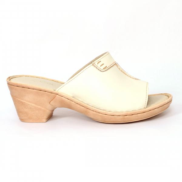 Papuci din piele naturala 315 Bej 0