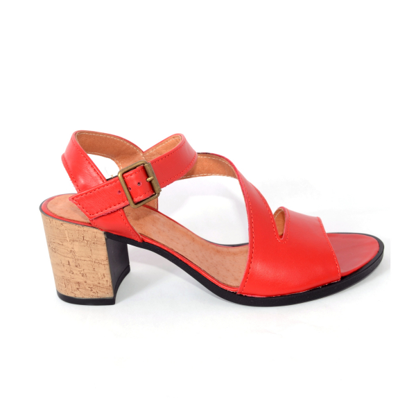 Sandale din piele naturala 250 Rosu 1
