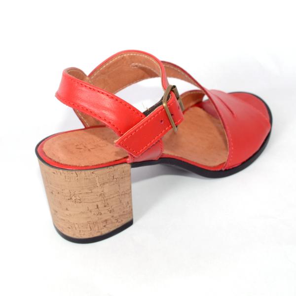 Sandale din piele naturala 250 Rosu 2